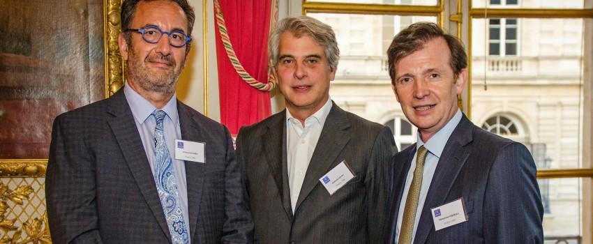 Arnaud Nourry, François Kayat et Alexandre Pébereau